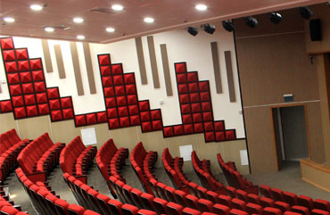 Al quds university theater acoustic wall application